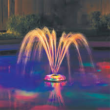 Floating Pool Fountain With Lights Details About Swimming Pool Lights Underwater Floating Fountain Show Waterfall Led Multi Color