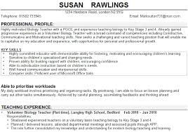 Cv For Teaching Sample Cv For Teachers