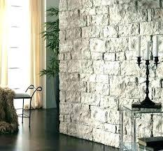 fake stone wall faux rock amazing panels installing veneer siding exterior