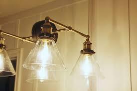 installed lighting fixtures for bathroom
