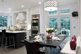 eat in kitchen lighting. inspiration for a transitional kitchen remodel in boston with stainless steel appliances eat lighting