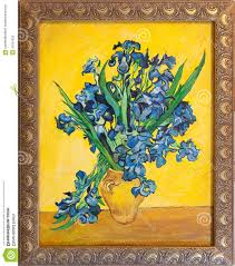 van gogh irises painting van gogh irises painting editorial stock photo ilration of