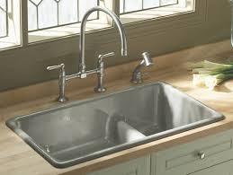 White Enamel Kitchen Sinks Amazon Kohler Wheatland Kitchen Sink White Color Two Hole Faucet