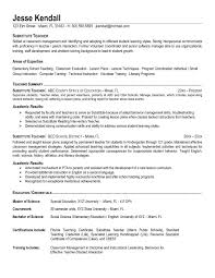 Fair Sample Substitute Teacher Resume With Substitute Teacher Resume