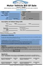 Bill Of Sale Of Car Carbuyingtips Com Free Spreadsheet Download Area