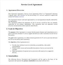 Help Desk Service Level Agreement Template – Francistan Template