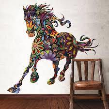 wild horse wall sticker on wild horses wall art with wild horse wall decal horse wall art sticker my wonderful walls