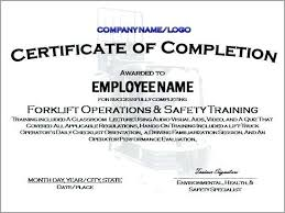 Free Forklift Certificate Template Final Fire Safety Certificate Template Templates Design