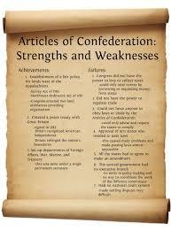 Articles Of Confederation Articles Of Confederation
