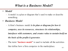 what is a business model 6 1 what is a business model model a model is a plan or diagram