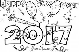 Small Picture New Years 2017 coloring page for kids Printable Coloring Pages