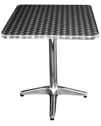 all about furniture oath32 32 round outdoor stainless patio dining table umbrella hole