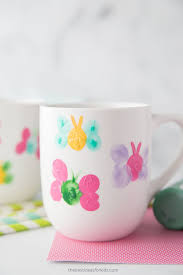 thumbprint diy mug painting