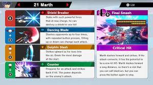 Marth Matchup Chart Marth Super Smash Bros Ultimate Unlock Stats Moves