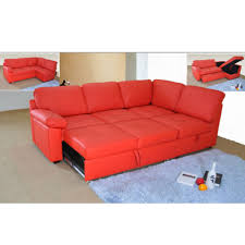 red leather couch sleeper fabrizio design leather couch sleeper