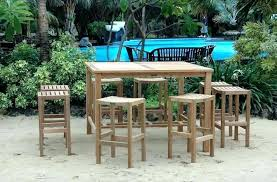 bar table and chairs set bar height outdoor table set extraordinary bar height patio ideas creative