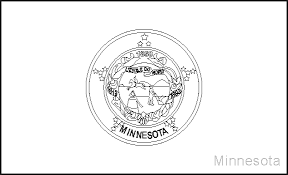Small Picture Minnesota State Flag Coloring Pages USA for Kids