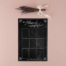 Personalized Seating Chart Personalized Seating Chart Kit With Chalkboard Print Design
