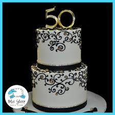 50th Wedding Anniversary Cake Blue Sheep Bake Shop