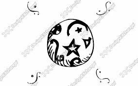 モノクロ 星 クリップアート年賀状戌年の年賀状イラストデザイン