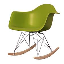 eames rocking chair green. buy eames style retro rocking chair green h