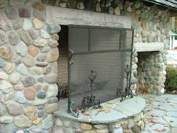 finelli architectural ironworks custom outdoor patio fireplace screen custom made in cleveland ohio