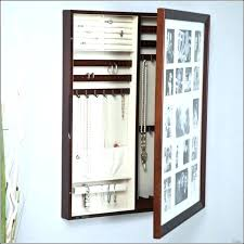 Hanging Mirror Jewelry Armoire Wall Mount  Organizer   Mounted Cabinet L2