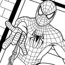 Spiderman Che Lancia Una Ragnatela Disegno Da Colorare Gratis Per