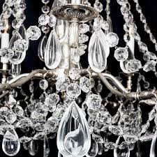 versailles louis xvi style french silver chandelier circa 1910
