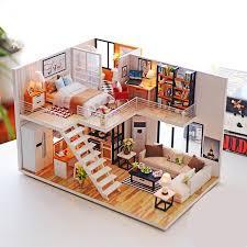 diy miniature wooden doll house furniture kits toys handmade craft miniature model kit dollhouse toys gift for children doll and dollhouse house for dolls