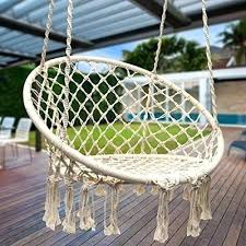 outdoor chair swing hammock macrame patio with stand wooden australia plans