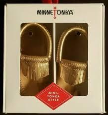 Minnetonka Moccasins Infant Sizes Unisex Rose Gold Fringe