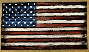 wooden american flag decor sign american flag wall art rustic decor thirteen individual wooden strips engraved plaque optional