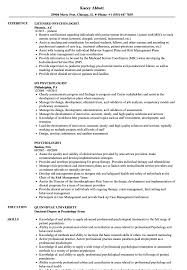 Resume Examples For Psychology Majors Psychologist Resume Samples Velvet Jobs 60
