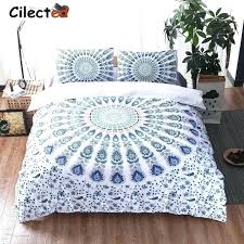 bohemian duvet cover white bedding bohemian bedding set purple white blue mandala duvet cover set romantic