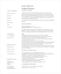 Graphic Design Resume Objective Statement Graphic Designer Resume Objective Graphic Designer Resume 58