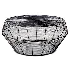 wire coffee table. Black Wire Coffee Table F