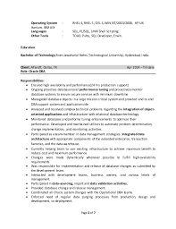 oracle dba resume doc
