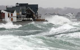 Snow Strong Winds Batter Cape Cod Coastal Massachusetts Maine Weather Cape Cod