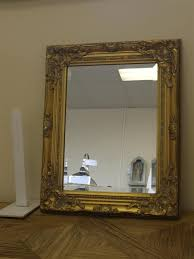 ornate french vintage style antique silver gilt wall mirror bevelled glass melody maison