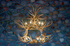 antler chandeliers at new west furniture
