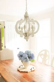 Distressed 6 Light Chandelier