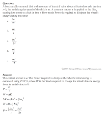 learn ap physics physics c rotational motion solution