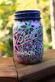 Ball Jar Decorations glow in the dark mason jars crafts the Glue and Glitter and 12