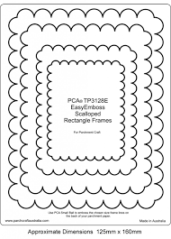 pca embossing easy scalloped rectangle frames tp3128e card making craft supplies