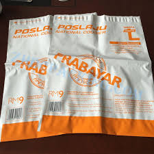 China Custom Poly Mailing Envelopes Bag With Waybill Pouch
