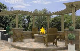 paver patio with pergola outdoor living outdoor patio and backyard medium size fireplace patio backyard pergola paver patios gallery with fire
