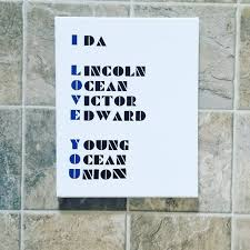 Military and has also been adopted by the faa (american federal aviation administration), ansi (american. I Love You Phonetic Alphabet Sign Phonetic Police Etsy