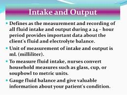 Intake Output Chart Guidelines