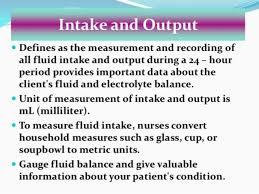 Fluid Balance Chart Nursing Intake Output Chart Guidelines